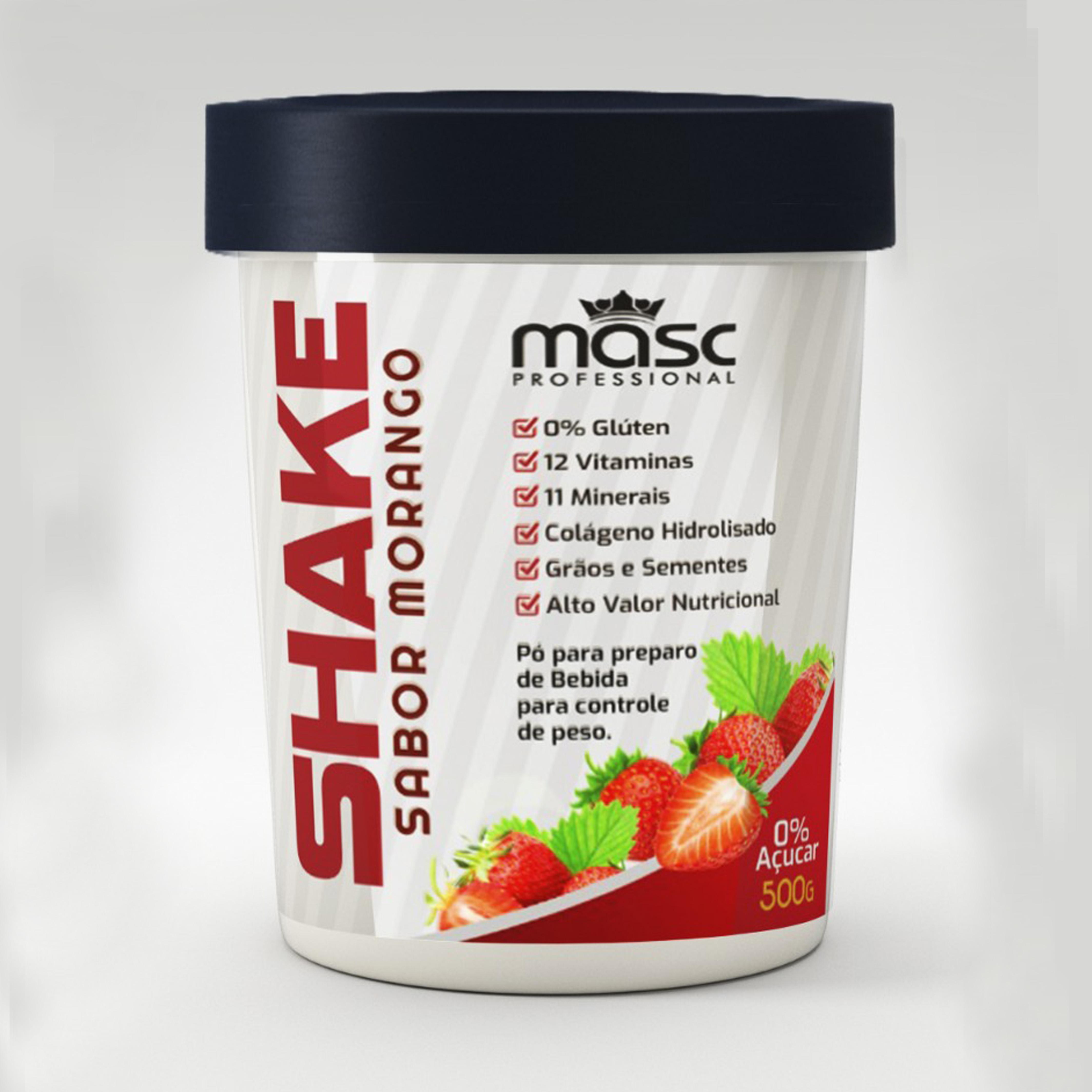 Shake Nutritivo 500g - Sabor Morango